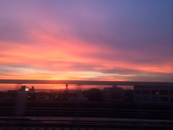 a key west sunset on a brooklyn F train winters eve