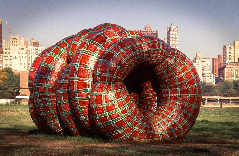 Gaelic Bloat . 8ft x 8ft x 16ft. mixed media. Socrates Sculpture Park, 1999-2000.