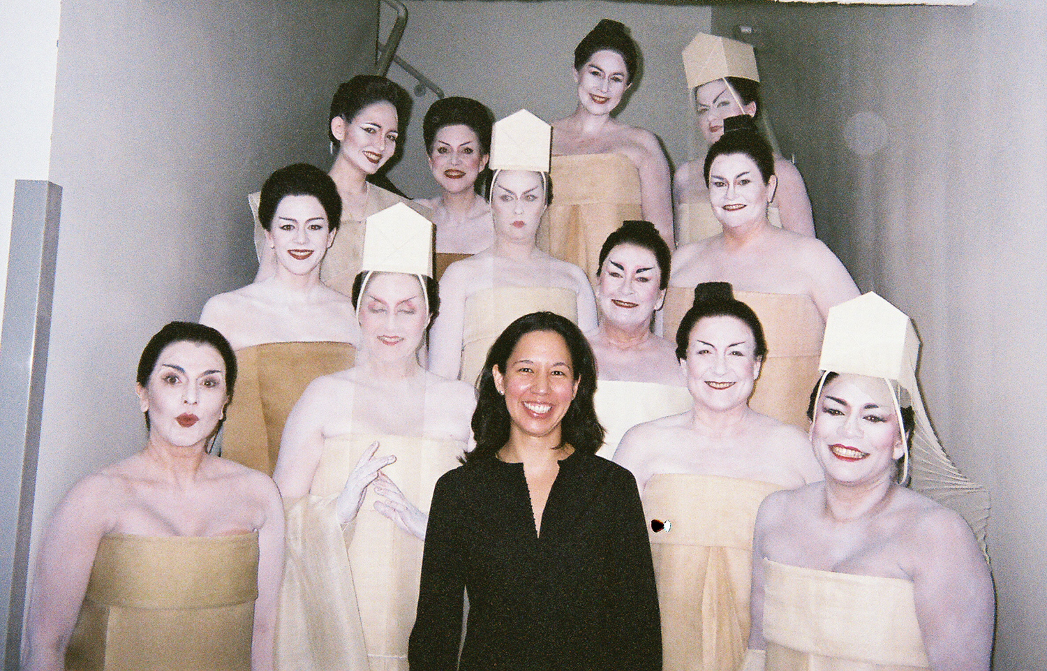 LA Opera choristers in costume from the infamous Robert Wilson production of Madama Butterfly in 2009