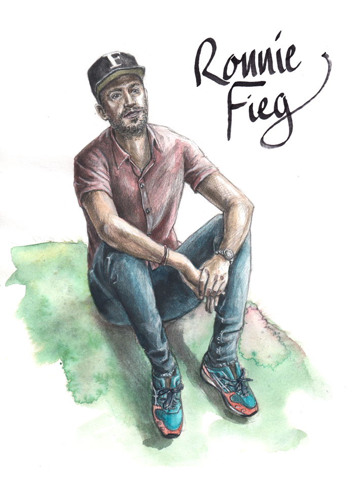 Ronnie Fieg Men's Fashion Illustration