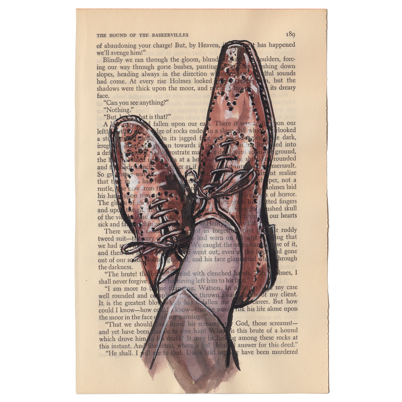 In Brogue. men's fashion illustration