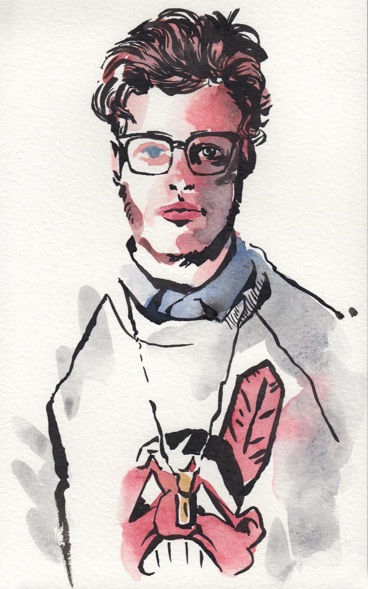 michael tesoriere fashion illustration