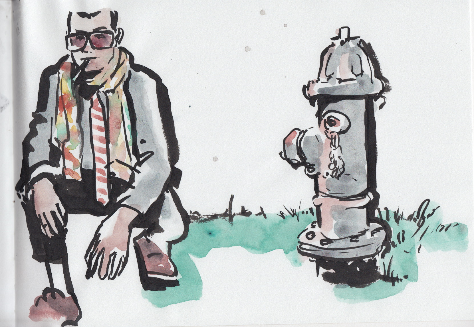 isthismenswear and the Modern Art Museum fire hydrant
