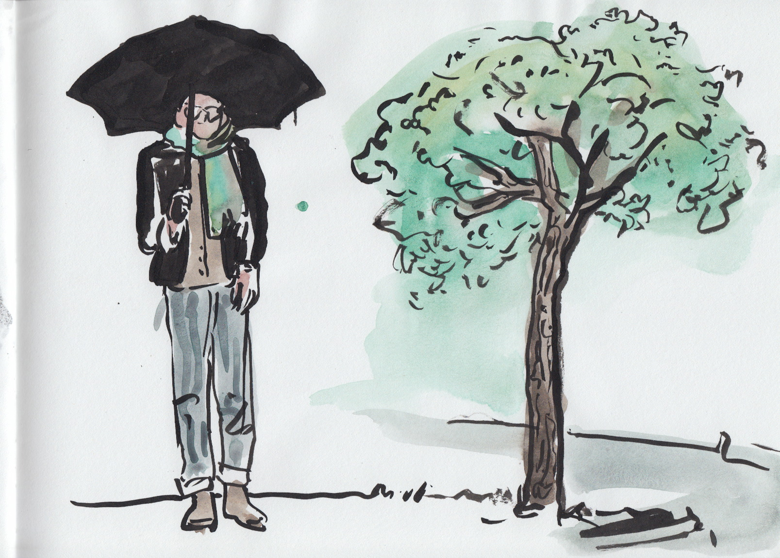 isthismenswear and a shady tree kitty-corner to the Kimbell and the Modern