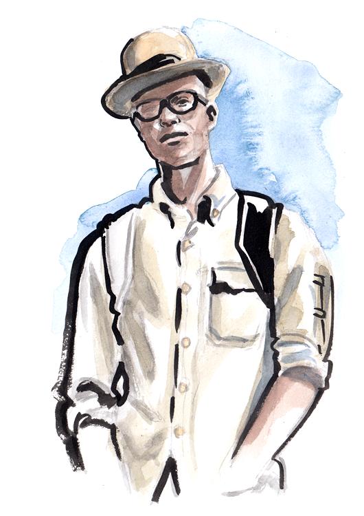 Daily Fashion Illustration 143, C-arie Woodward