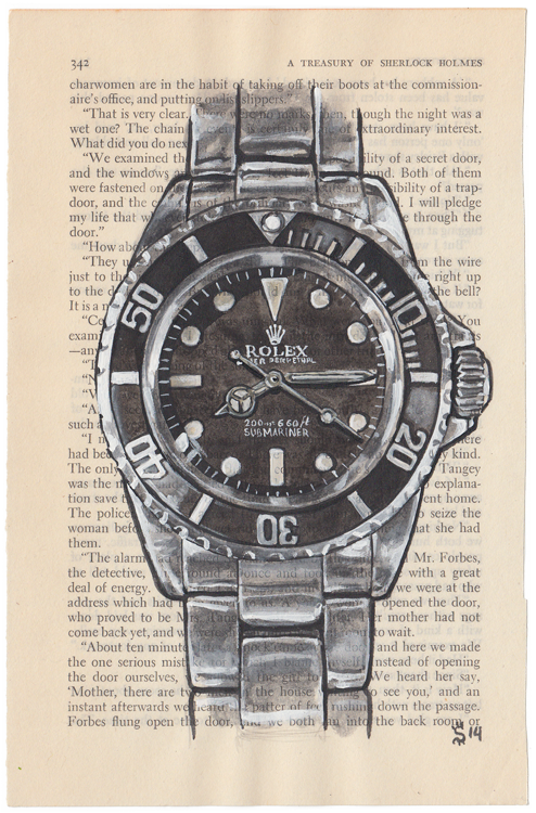 Matt Hranek, Rolex Submariner book page fashion