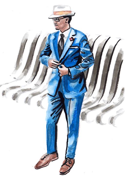 Daily Fashion Illustration 165, Adrian Beraquit