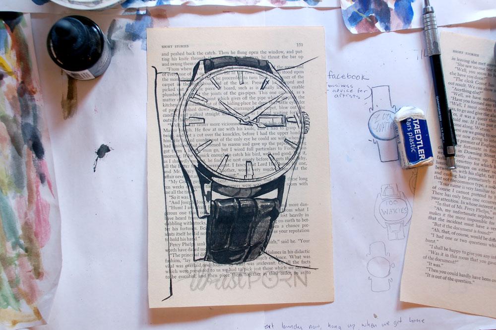 Tissot Visodate Painting Process 2