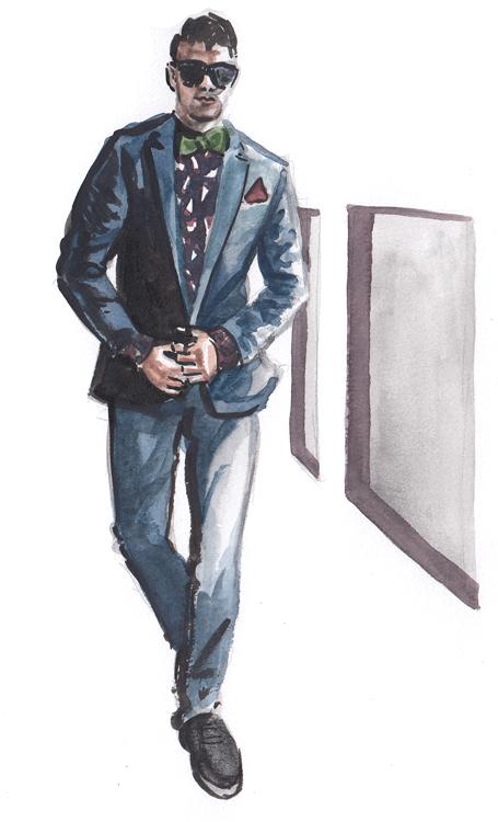 Daily Fashion Illustration 184, Franko Dean