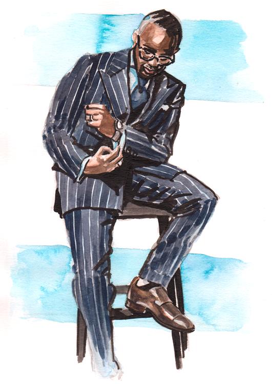 Daily Fashion Illustration 187, Wale Soluade