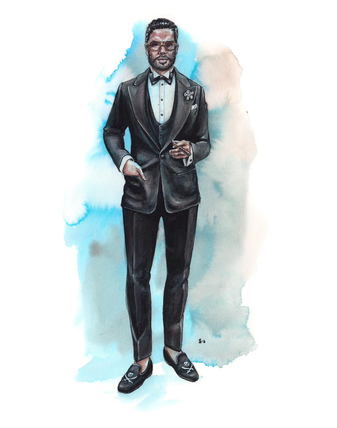 men's fashion illustration, Angel Bespoke