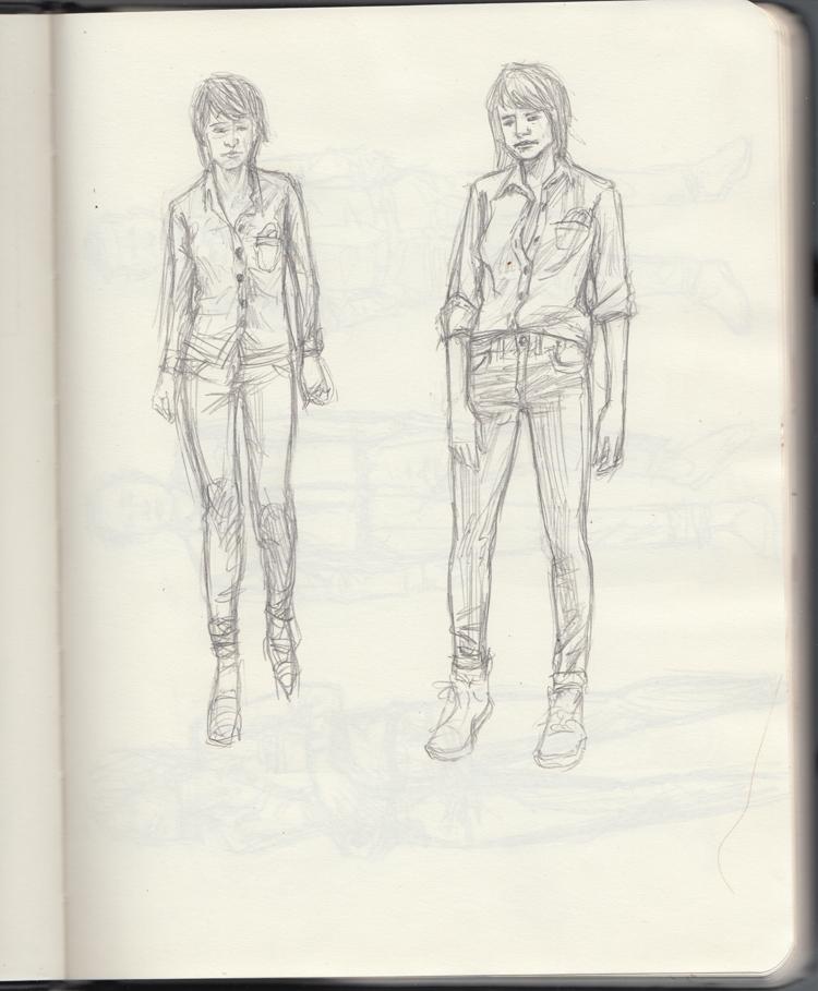 Sunflowerman Sketchbook pg. 15
