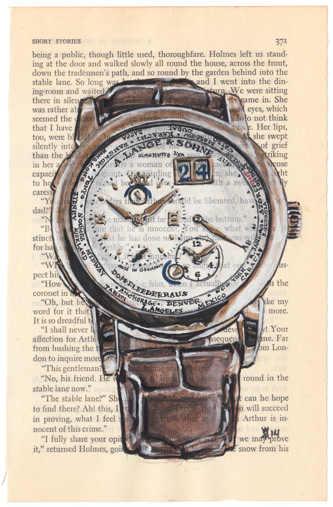 A Lange Sohne watch painting