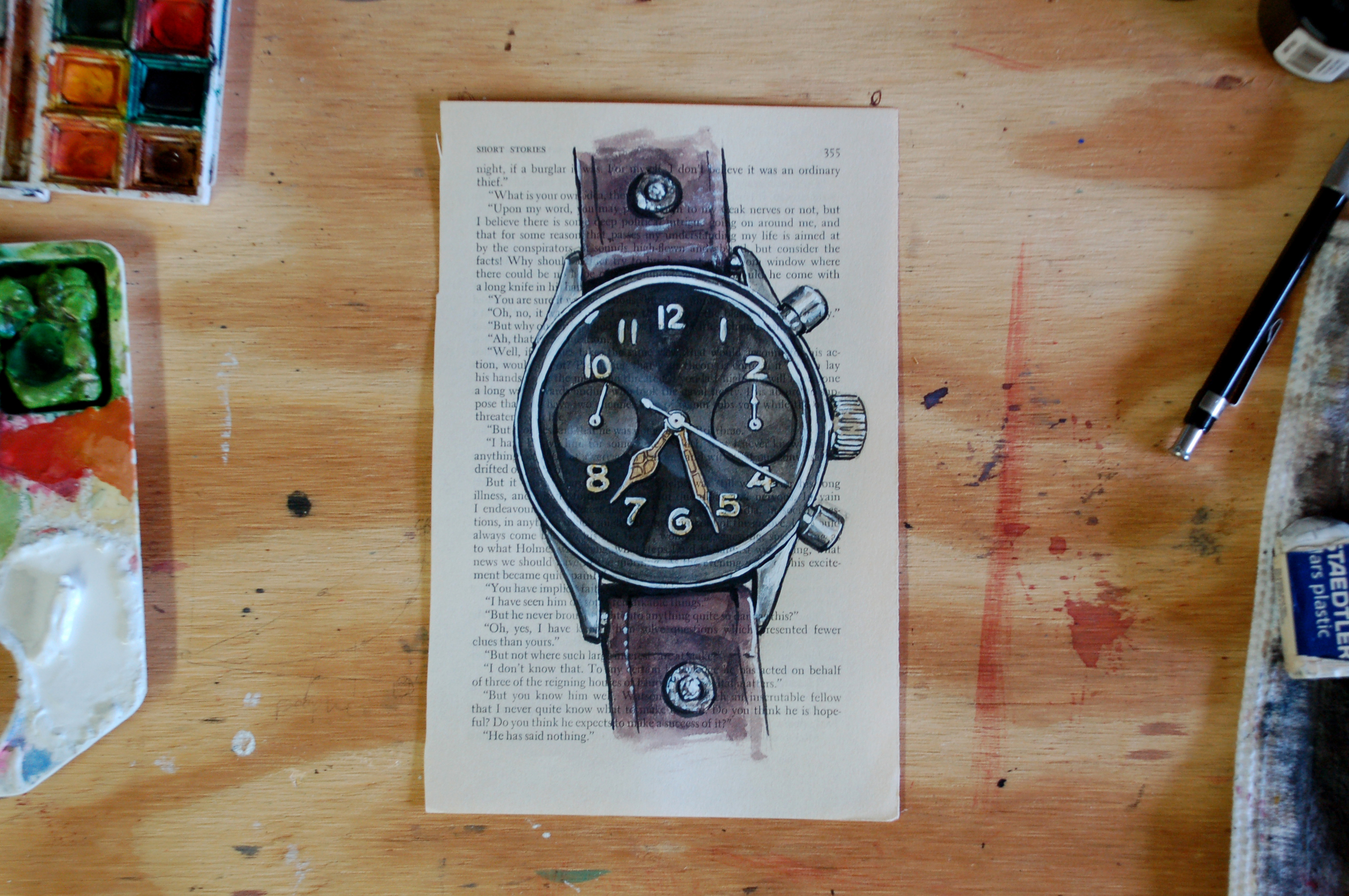 Hanhart watch painting process
