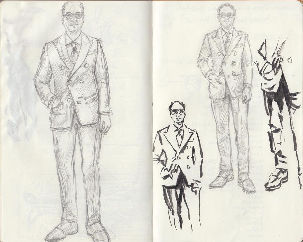 Gianni Agnelli sketches