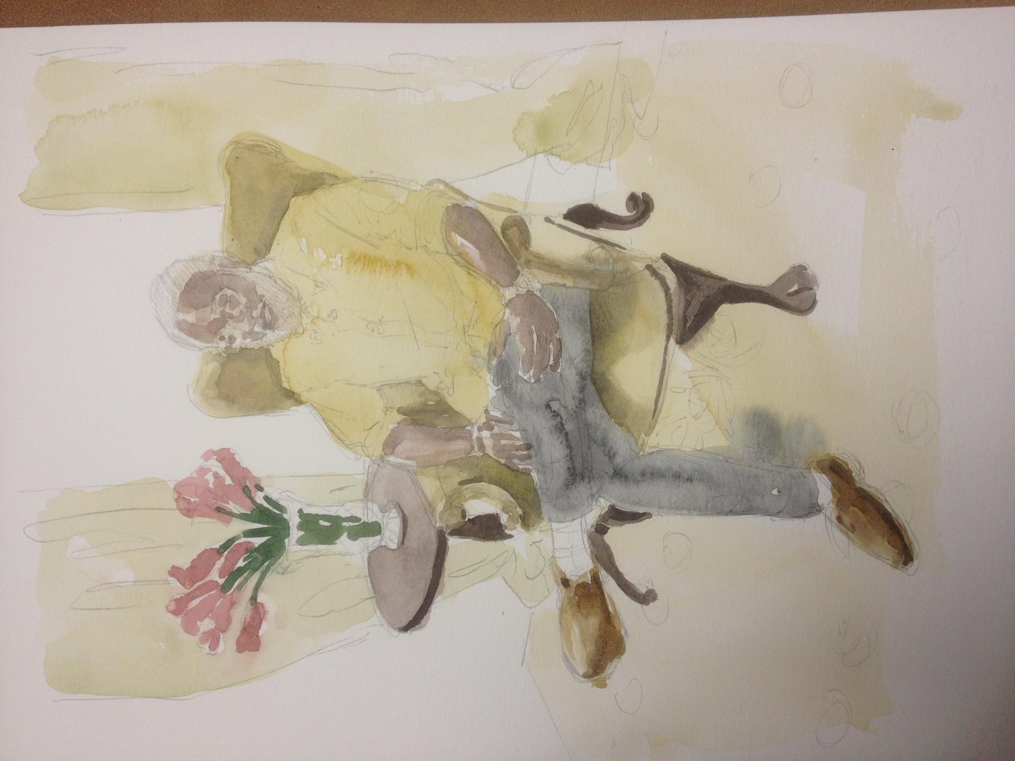 Nene Watercolor Painting at Billy Reid