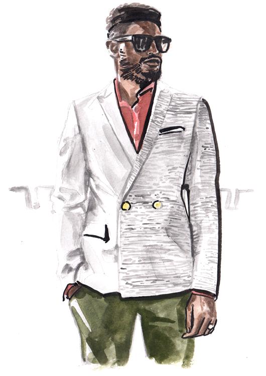 Daily Fashion Illustration Larry Lamotey