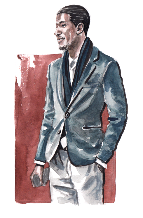 Daily Fashion Illustration Deante Brown