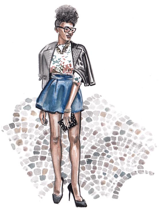 Daily Fashion Illustration Raven Roberts