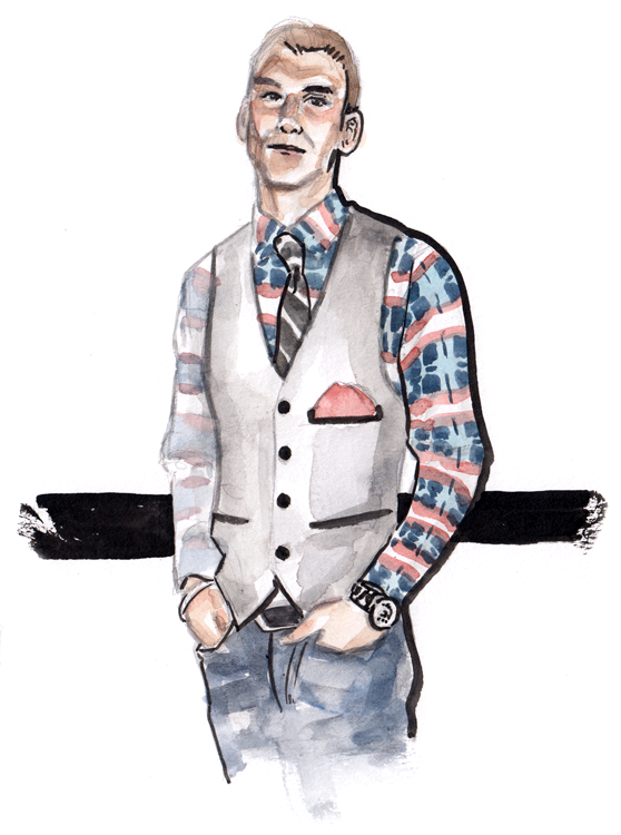 Daily Fashion Illustration Andrew Loden