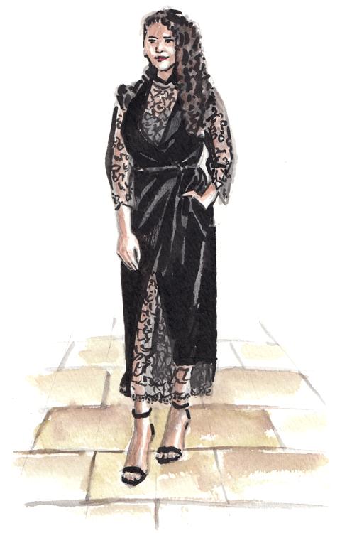 Daily Fashion Illustration Fatma al Bakry