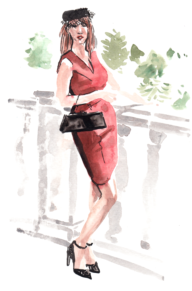 Daily Fashion Illustration, Doris Hobbs