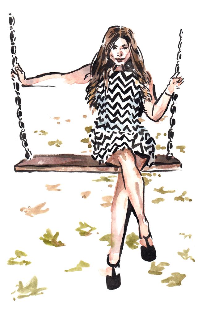 Daily Fashion Illustration, Anna Prager