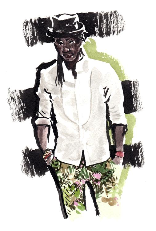 Daily Fashion Illustration Ron Bass