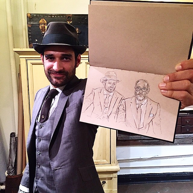 I also had the great opportunity to draw Sebastian and Alex. Held in great style by Sebastian.