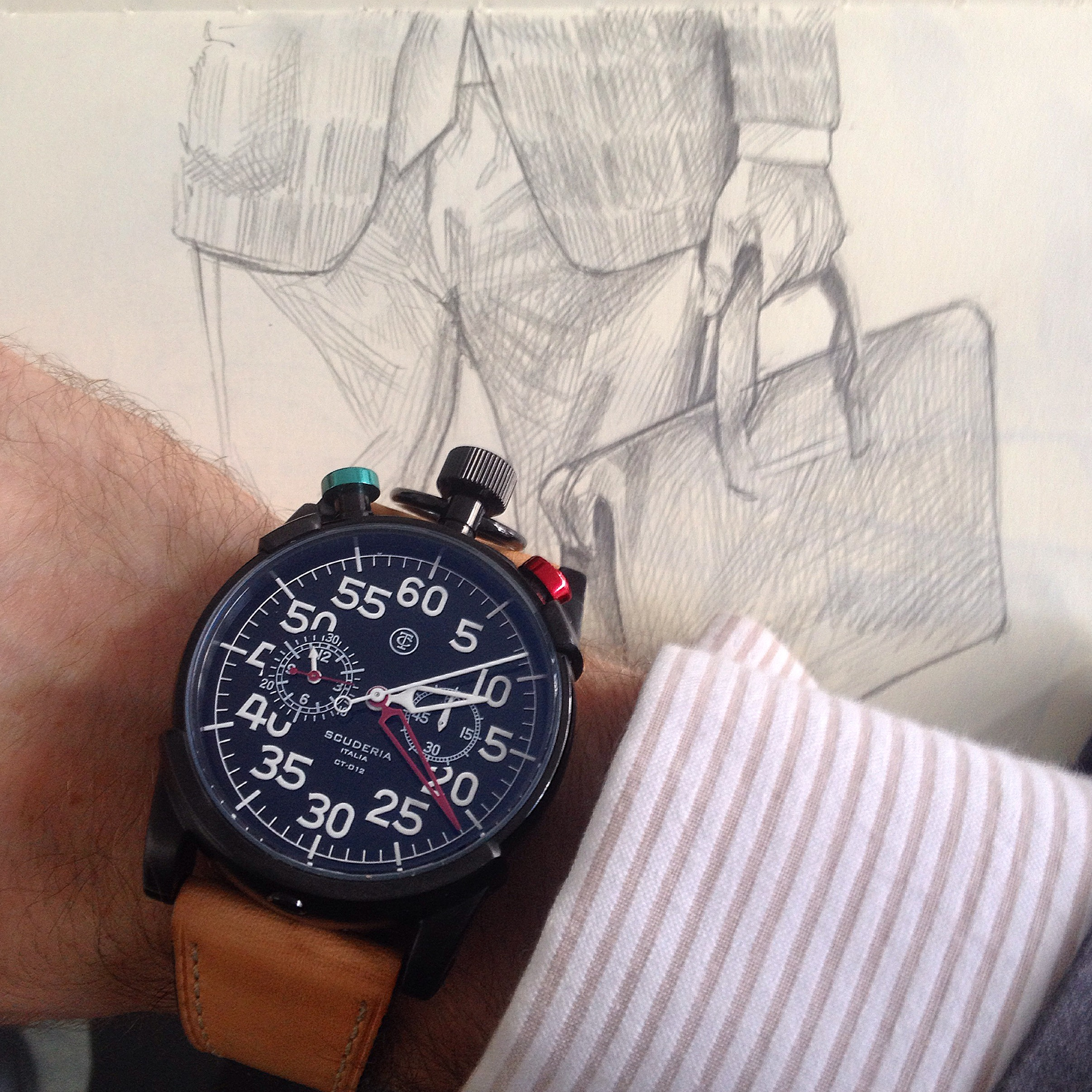 On Thursday I had the insane pleasure of meeting Alexandre from  The Promotion Factory . I shared my story and my work and sneaked a few wrist shots.  This is a brand that was new to me.  CT Scuderia , an Italian brand with Cafe Racers on the mind.