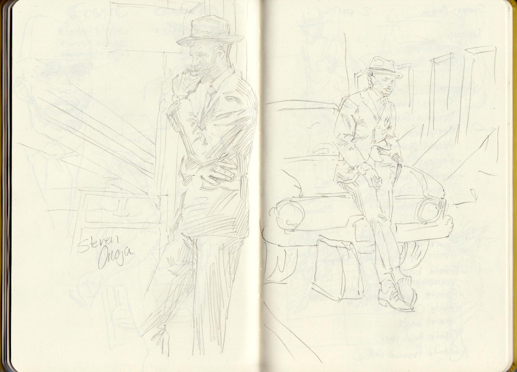 Steven Onoja sketches