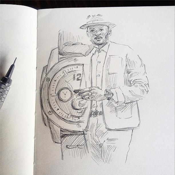 Steven Onoja Fossil Grant watch sketch
