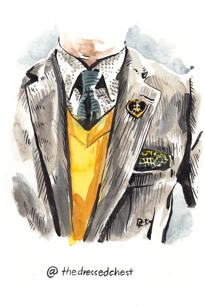 the dressed chest illustration