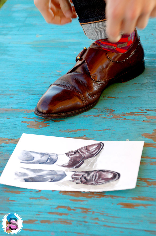 Miguel Angel Illustration and Monk Strap