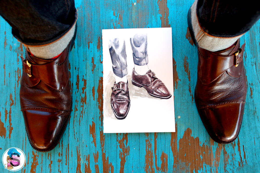 Miguel Angel Monk Straps and Illustration