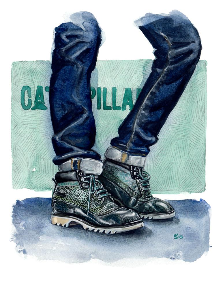 CAT Footwear fashion illustration