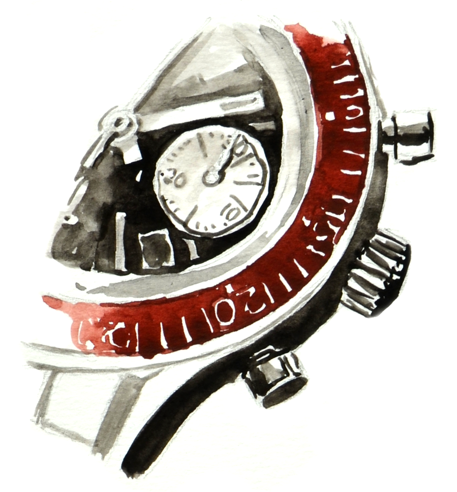 Heritage Diver crown and pushers