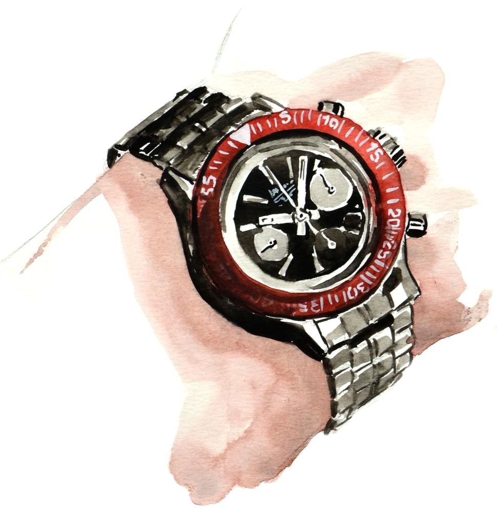Longines Heritage Diver on wrist