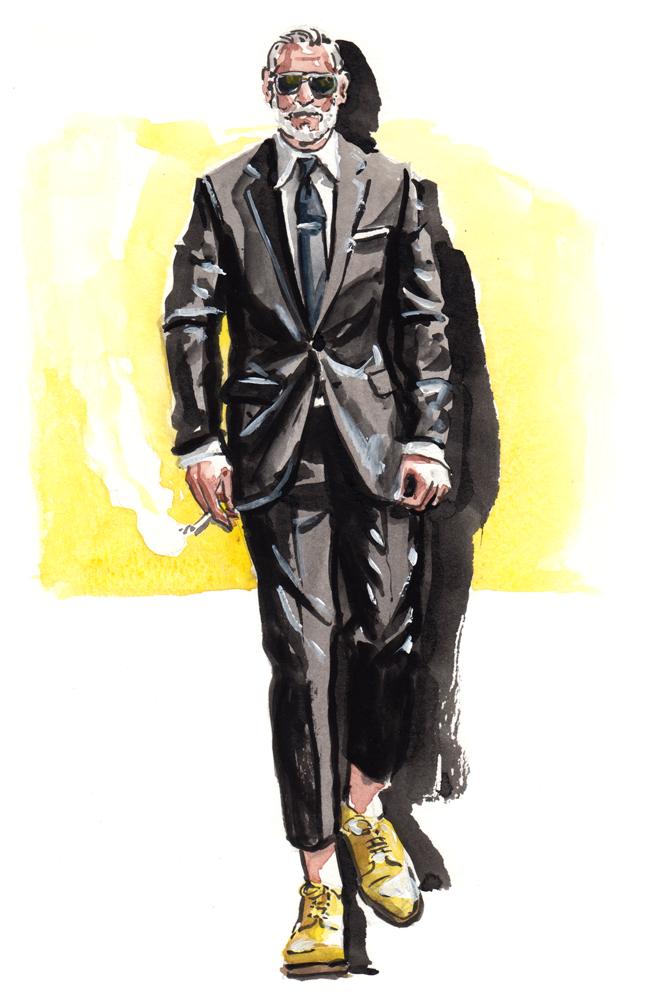 Nick Wooster fashion illustration