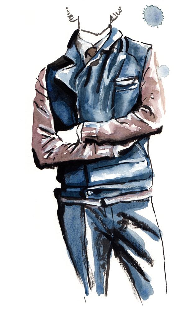 Brunello Cucinelli fashion illustration