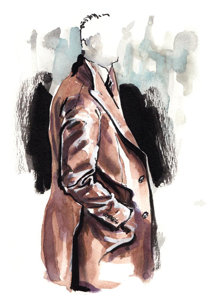 Brunello Cucinelli menswear illustration