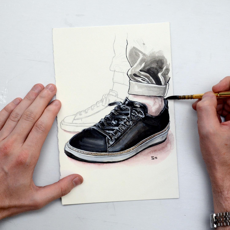 To Boot New York sneaker menswear illustration