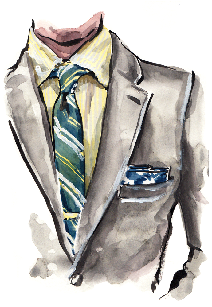 Illustration based on a look by  @thedressedchest