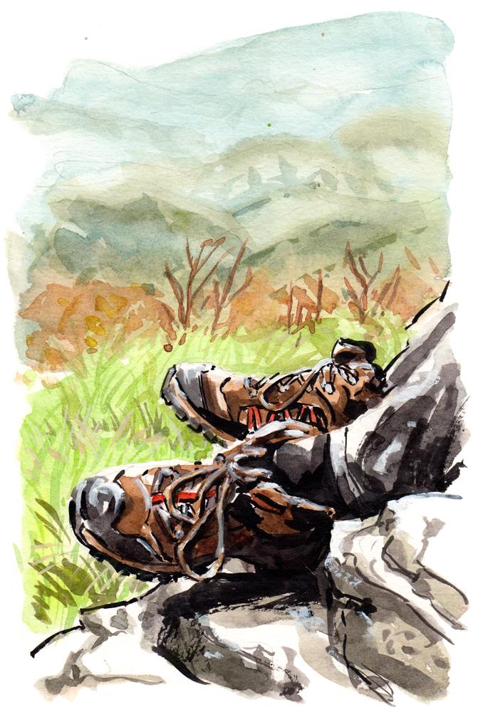 Wolverine Hiking Boots, Black Ledge