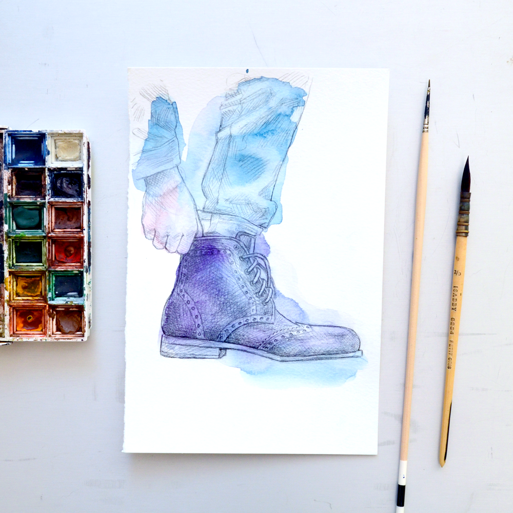 Tawny Goods boot wash of watercolor