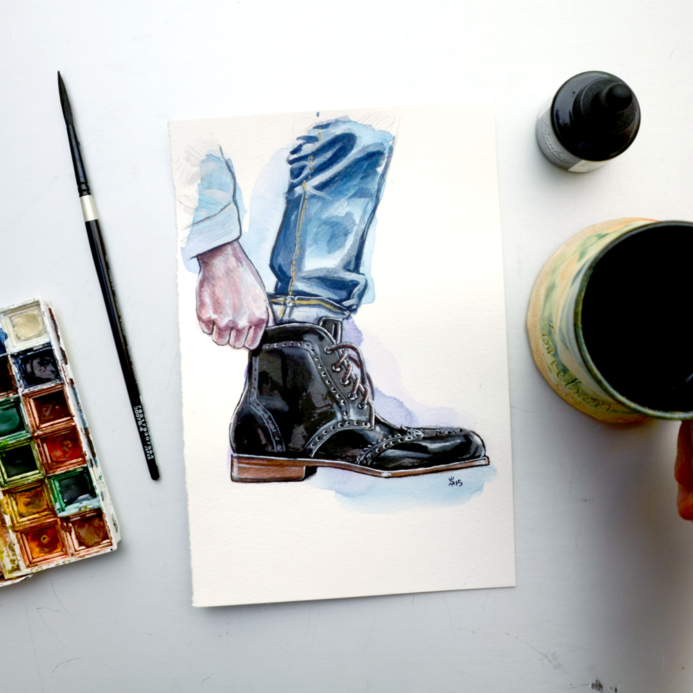 Tawny Goods boot illustration