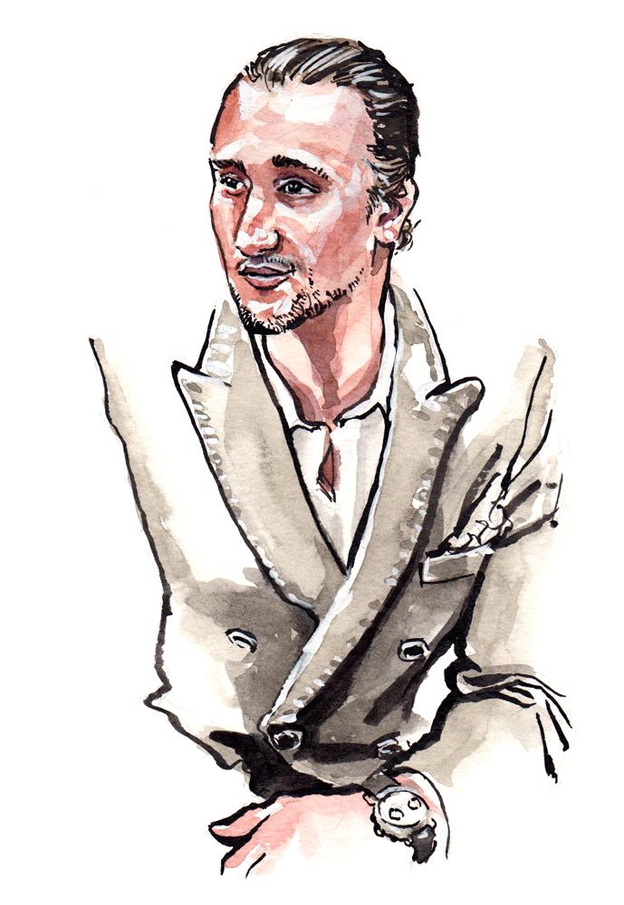 Menswear Illustration of Marcel Floruss