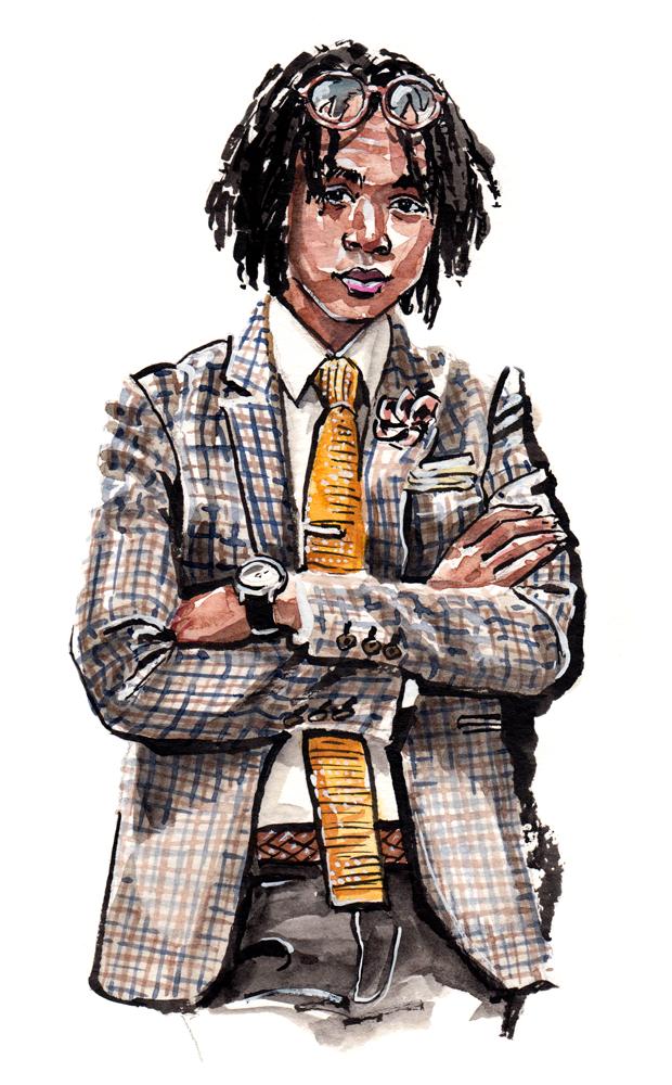 A Dapper Chick fashion illustration
