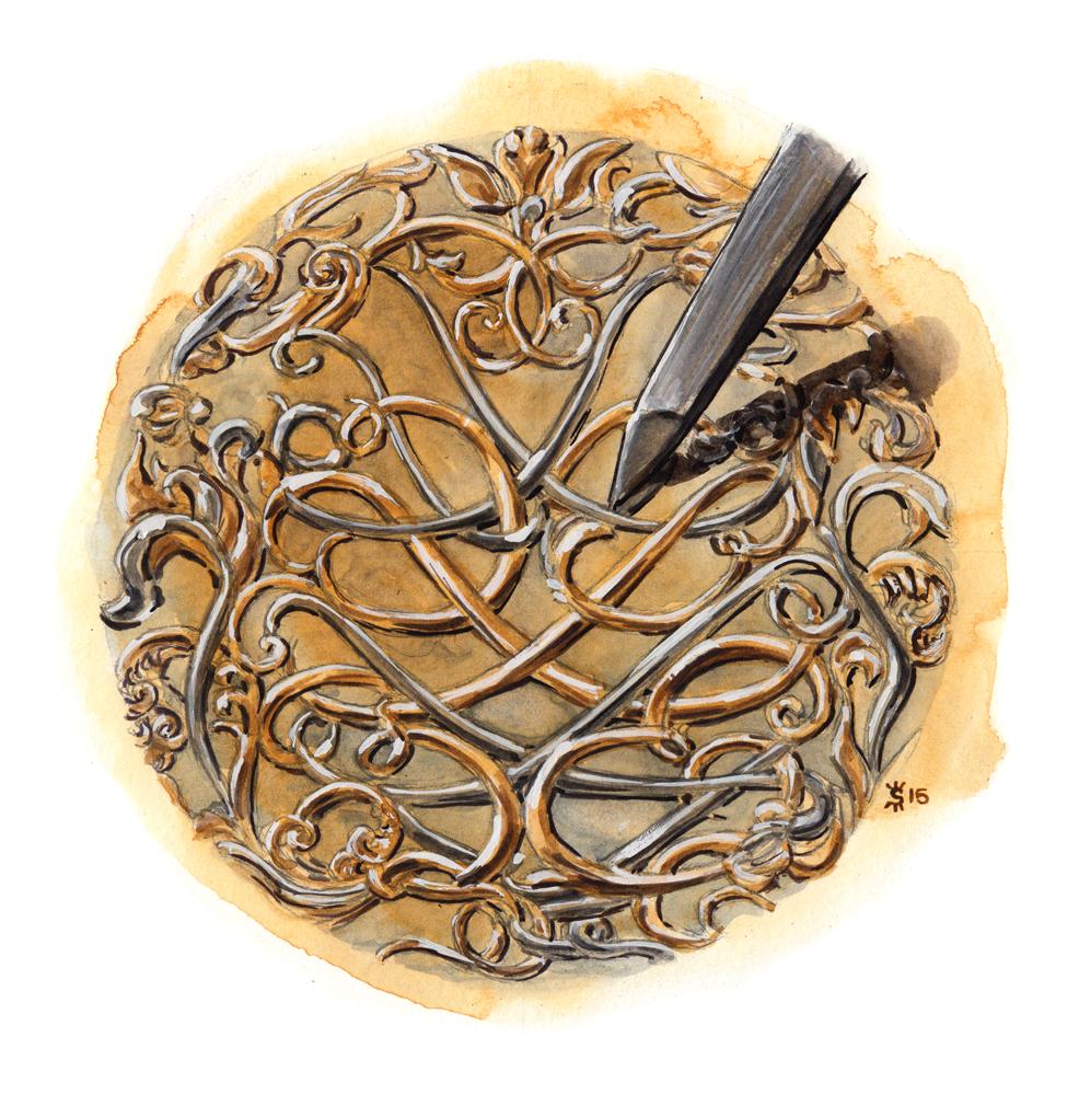 Hermes Engraving