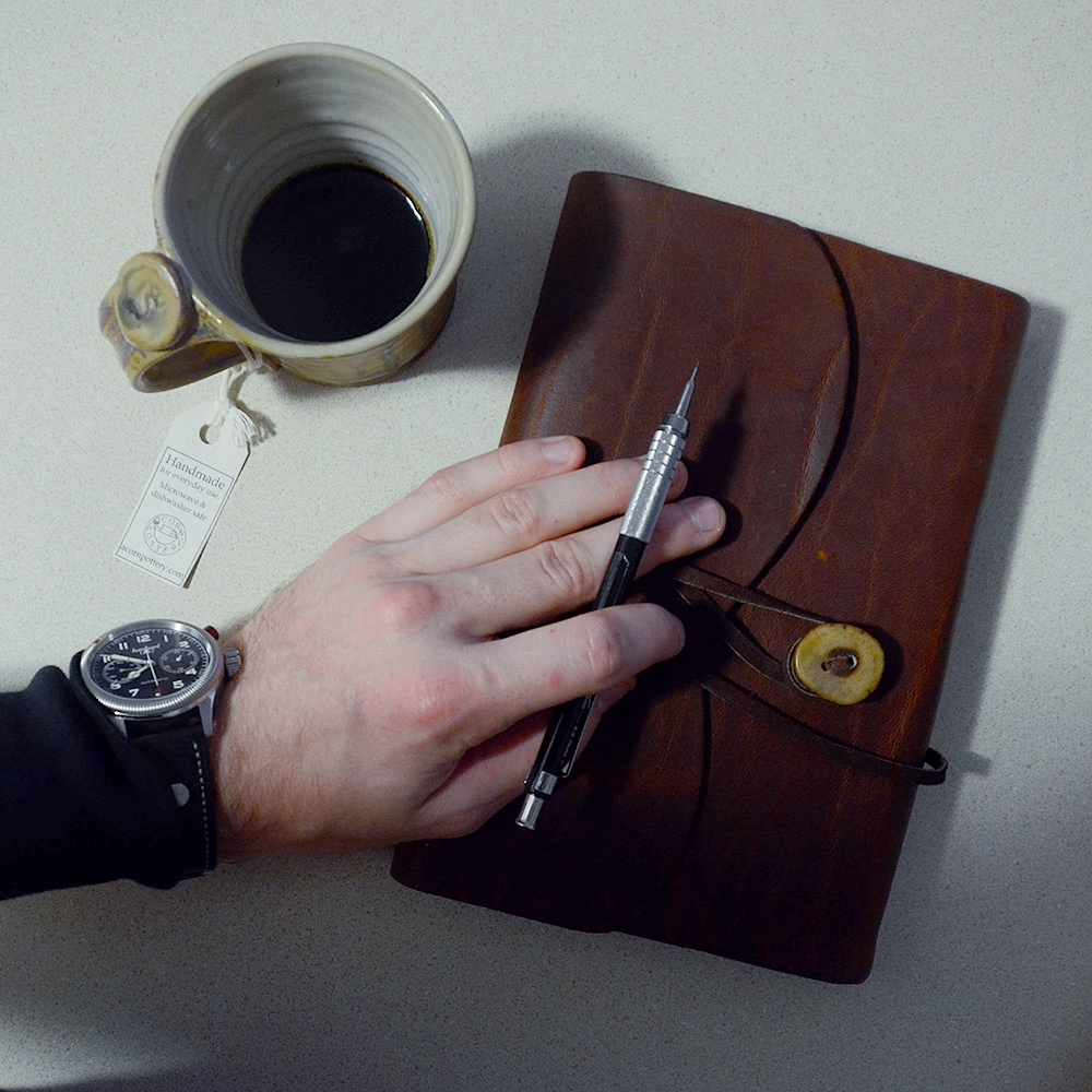 For a leather journal cover like this, scroll to the bottom for the link.